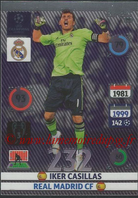 2014-15 - Adrenalyn XL champions League N° 341 - Iker CASILLAS (Real Madrid CF) (Expert)