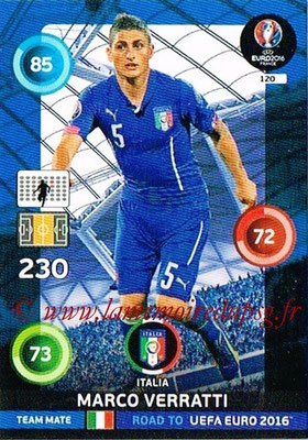 Panini Road to Euro 2016 Cards - N° 120 - Marco VERRATTI (Italie)