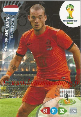 2014 - Panini FIFA World Cup Brazil Adrenalyn XL - N° 257 - Wesley SNEIJDER (Pays-Bas)