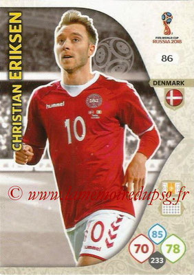 2018 - Panini FIFA World Cup Russia Adrenalyn XL - N° 086 - Christian ERIKSEN (Danemark)