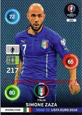 Panini Road to Euro 2016 Cards - N° 269 - Simone ZAZA (Italie) (Rising Star)