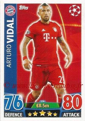 2015-16 - Topps UEFA Champions League Match Attax - N° 174 - Arturo VIDAL (FC Bayern Munich)