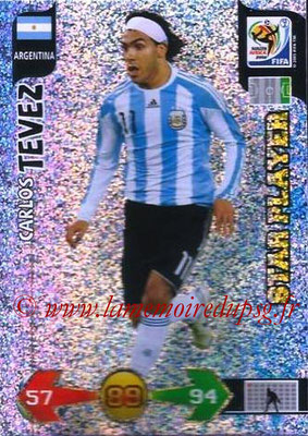 2010 - Panini FIFA World Cup South Africa Adrenalyn XL - N° 024 - Carlos TEVEZ (Argentine) (Star Player)