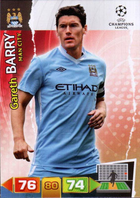2011-12 - Panini Champions League Cards - N° 136 - Gareth BARRY (Manchester City FC)