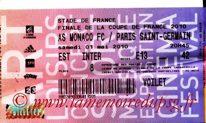 Tickets  PSG-Monaco  2009-10
