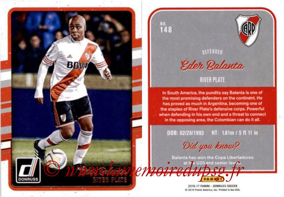 2016 - Panini Donruss Cards - N° 148 - Eder BALANTA (River Plate)