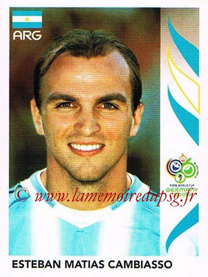 2006 - Panini FIFA World Cup Germany Stickers - N° 178 - Esteban Matias CAMBIASSO (Argentine)