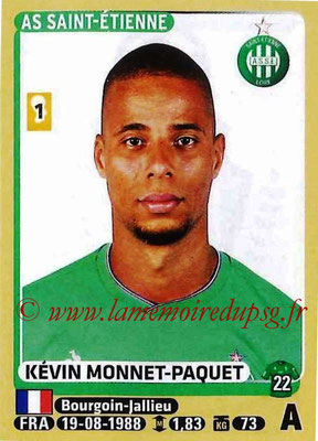 2015-16 - Panini Ligue 1 Stickers - N° 430 - Kévin MONNET-PAQUET (AS Saint-Etienne)