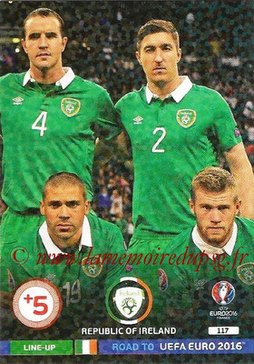 Panini Road to Euro 2016 Cards - N° 117 - Equipe Eire 3