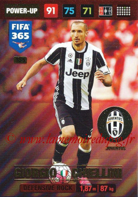 2016-17 - Panini Adrenalyn XL FIFA 365 - N° 355 - Giorgio CHIELLINI (Juventus FC) (Defensive Rock)