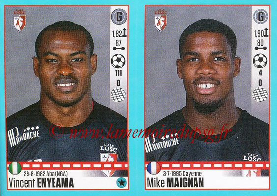 2016-17 - Panini Ligue 1 Stickers - N° 272 + 273 - Vincent ENYEAMA + Mike MAIGNAN (Lille)
