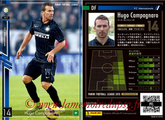 Panini Football League 2015 - PFL14 - N° 014 - Hugo CAMPAGNARO (FC Internazionale)