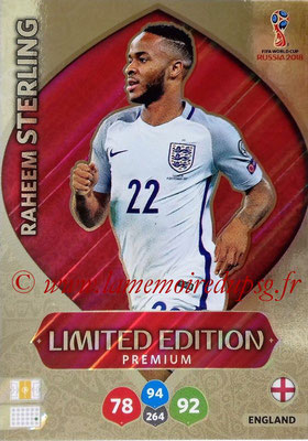2018 - Panini FIFA World Cup Russia Adrenalyn XL - N° LE-RS - Raheem STERLING (Angleterre) (Limited Edition Premium)