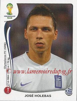 2014 - Panini FIFA World Cup Brazil Stickers - N° 210 - José HOLEBAS (Grèce)