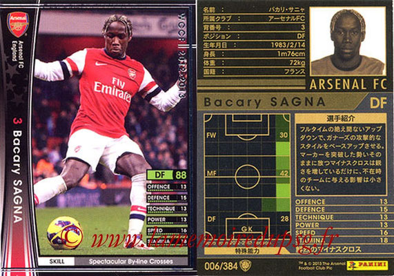 2012-13 - WCCF - N° 006 - Bacary SAGNA (Arsenal FC)
