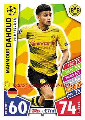 2017-18 - Topps UEFA Champions League Match Attax - N° 101 - Mahmoud DAHOUD (Borussia Dortmund)