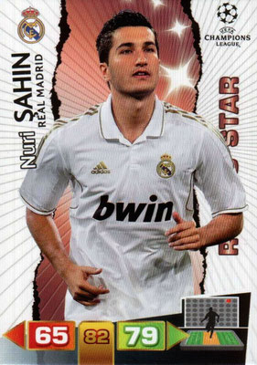 2011-12 - Panini Champions League Cards - N° 232 - Nuri SAHIN (Real Madrid CF) (Rising Star)