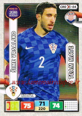 2018 - Panini Road to FIFA World Cup Russia Adrenalyn XL - N° CRO04 - Sime VRSALJKO (Croatie)