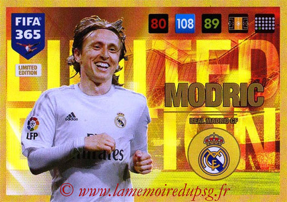 2016-17 - Panini Adrenalyn XL FIFA 365 - N° LE16 - Luka MODRIC (Real Madrid CF) (Limited Edition)
