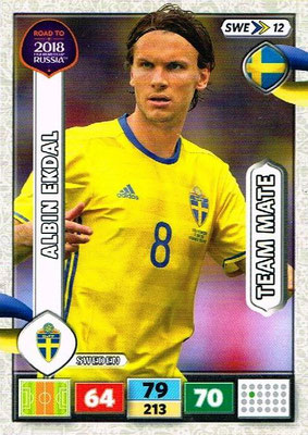 2018 - Panini Road to FIFA World Cup Russia Adrenalyn XL - N° SWE12 - Albin EKDAL (Suède)