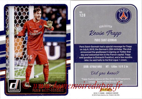 2016 - Panini Donruss Cards - N° 128 - Kevin TRAPP (Paris Saint-Germain)