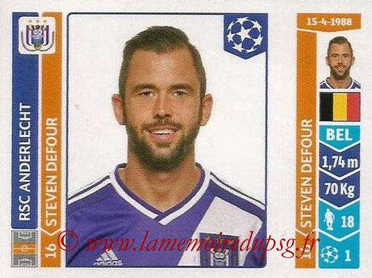 2014-15 - Panini Champions League N° 313 - Steven DEFOUR (RSC Anderlecht)