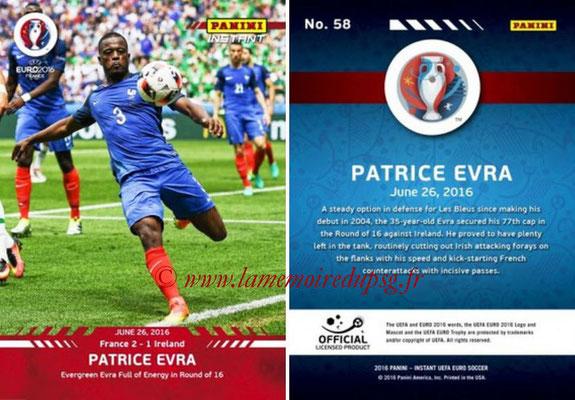 Panini Instant Euro 2016 - N° 058 - Patrice EVRA