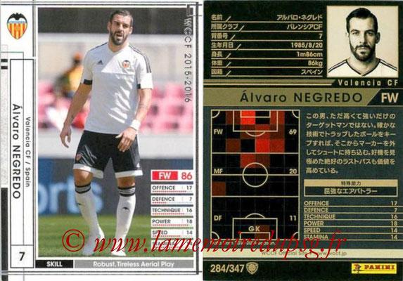2015-16 - Panini WCCF - N° 284 - Alvaro NEGREDO (Valencia CF)