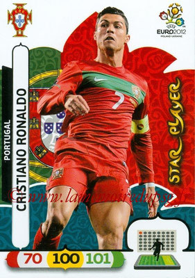 Panini Euro 2012 Cards Adrenalyn XL - N° 175 - Cristiano RONALDO (Portugal) (Star Player)
