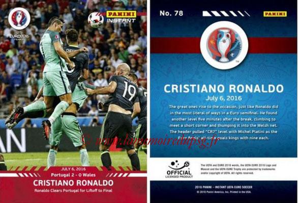 Panini Instant Euro 2016 - N° 078 - Cristiano RONALDO