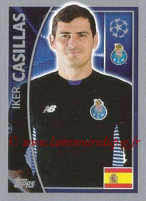 2015-16 - Topps UEFA Champions League Stickers - N° 465 - Iker CASILLAS (FC Porto)