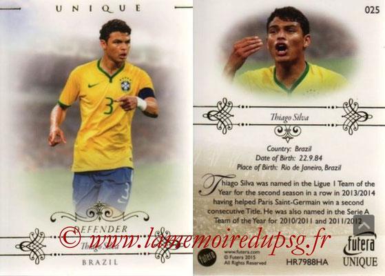 N° 025 - Thiago SILVA (2012-??, PSG > 2015, Brésil) (Defender)