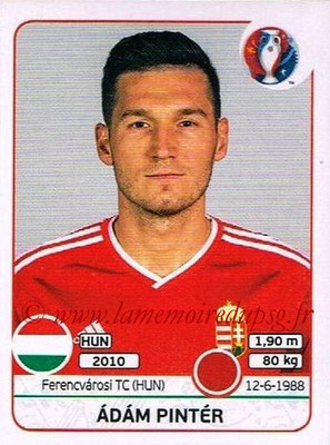 Panini Euro 2016 Stickers - N° 668 - Adam PINTER (Hongrie)