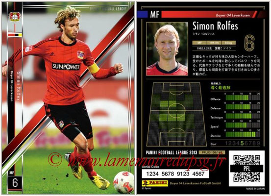 Panini Football League 2013 - PFL03 - N° 108 - Simon Rolfes (Bayer Leverkusen)