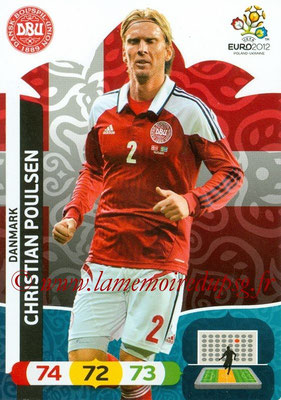 Panini Euro 2012 Cards Adrenalyn XL - N° 021 - Christian POULSEN (Danemark)