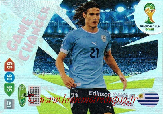 2014 - Panini FIFA World Cup Brazil Adrenalyn XL - N° 404 - Edinson CAVANI (Uruguay) (Game changer)