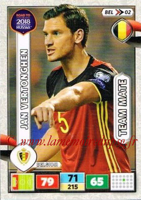 2018 - Panini Road to FIFA World Cup Russia Adrenalyn XL - N° BEL02 - Jan VERTONGHEN (Belgique)