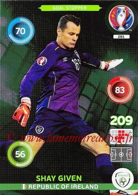 Panini Euro 2016 Cards - N° 281 - Shay GIVEN (République d Irlande) (Goal Stopper)