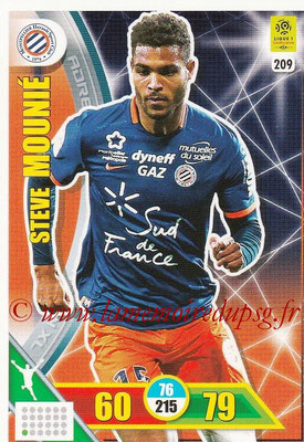 2017-18 - Panini Adrenalyn XL Ligue 1 - N° 209 - Steve MOUNIE (Montpellier)