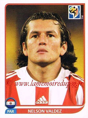 2010 - Panini FIFA World Cup South Africa Stickers - N° 445 - Nelson VALDEZ (Paraguay)