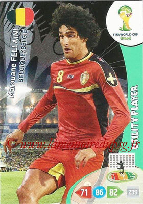 2014 - Panini FIFA World Cup Brazil Adrenalyn XL - N° 033 - Marouane FELLAINI (Belgique) (Utility Player)