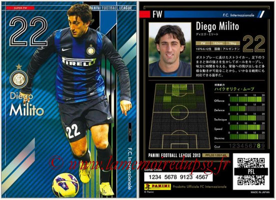 Panini Football League 2013 - PFL03 - N° 135 - Diego Milito (Inter Milan) (Super FW)