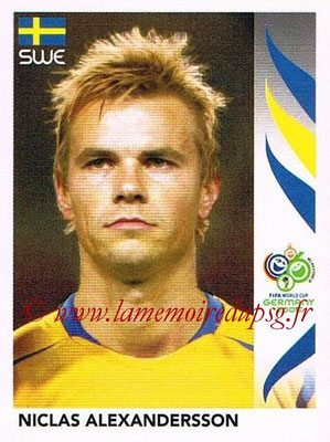 2006 - Panini FIFA World Cup Germany Stickers - N° 158 - Niclas ALEXANDERSSON (Suède)