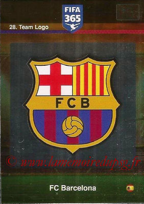 2015-16 - Panini Adrenalyn XL FIFA 365 - N° 028 - Ecusson FC Barcelone (Team Logo)