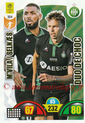 2018-19 - Panini Adrenalyn XL Ligue 1 - N° 324 - Yann M'VILA + Ole SELNAES (Saint-Etienne) (Duo de Choc)