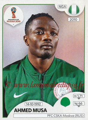 2018 - Panini FIFA World Cup Russia Stickers - N° 346 - Ahmed MUSA (Nigeria)