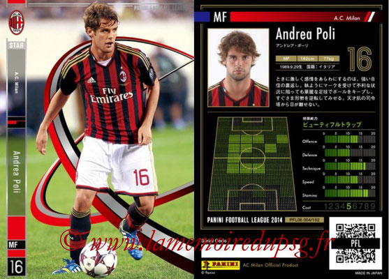 Panini Football League 2014 - PFL06 - N° 004 - Andrea POLI (Milan AC) (Star)