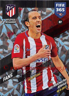 2017-18 - Panini FIFA 365 Cards - N° 087 - Diego GODIN (Atletico Madrid) (Milestone)