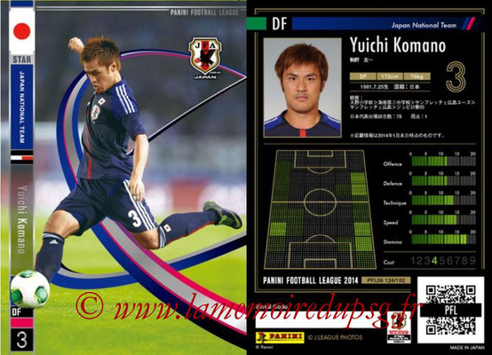 Panini Football League 2014 - PFL06 - N° 124 - Yuichi KOMANO (Japon) (Star)