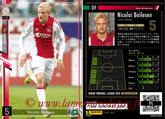 Panini Football League 2015 - PFL11 - N° 076 - Nicolai BOILESEN (Ajax)